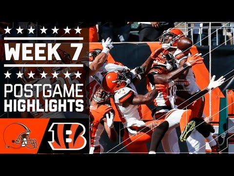 Browns vs. Bengals | NFL Week 7 Game Highlights