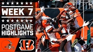 Browns vs. Bengals | NFL Week 7 Game Highlights
