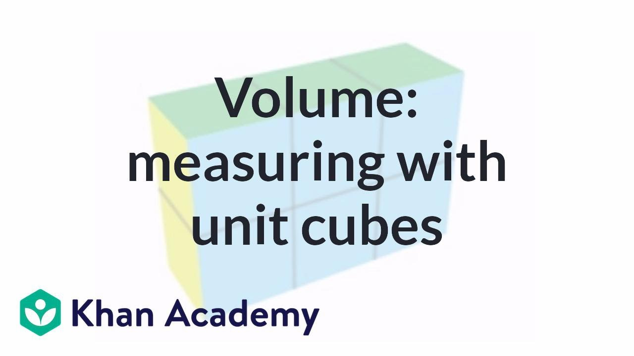 medium resolution of Measuring volume with unit cubes (video)   Khan Academy