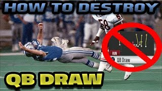 HOW TO STOP QB DRAW | MADDEN 18 TIP
