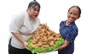 Bà Tân Vlog - Làm Đĩa Cánh Gà KFC Siêu To Khổng Lồ | KFC fried chicken