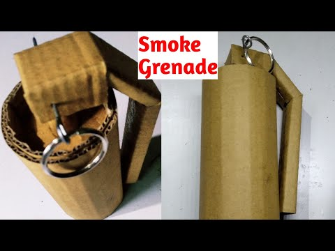 How To Make Smoke Grenade With Cardboard At Home
