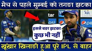 IPL 2019; मैच से पहले Mumbai Indians को बङा झटका || Bad news for MI || Adam milne ruled out ||ipl 12