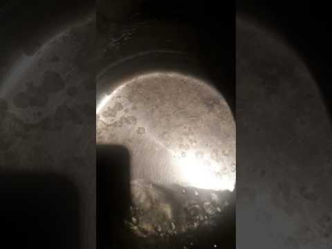 Magnesium Chloride Crystals Forming