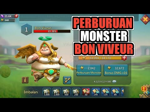 Perburuan Monster Bon Viveur ( Free Gift ) LORDS MOBILE