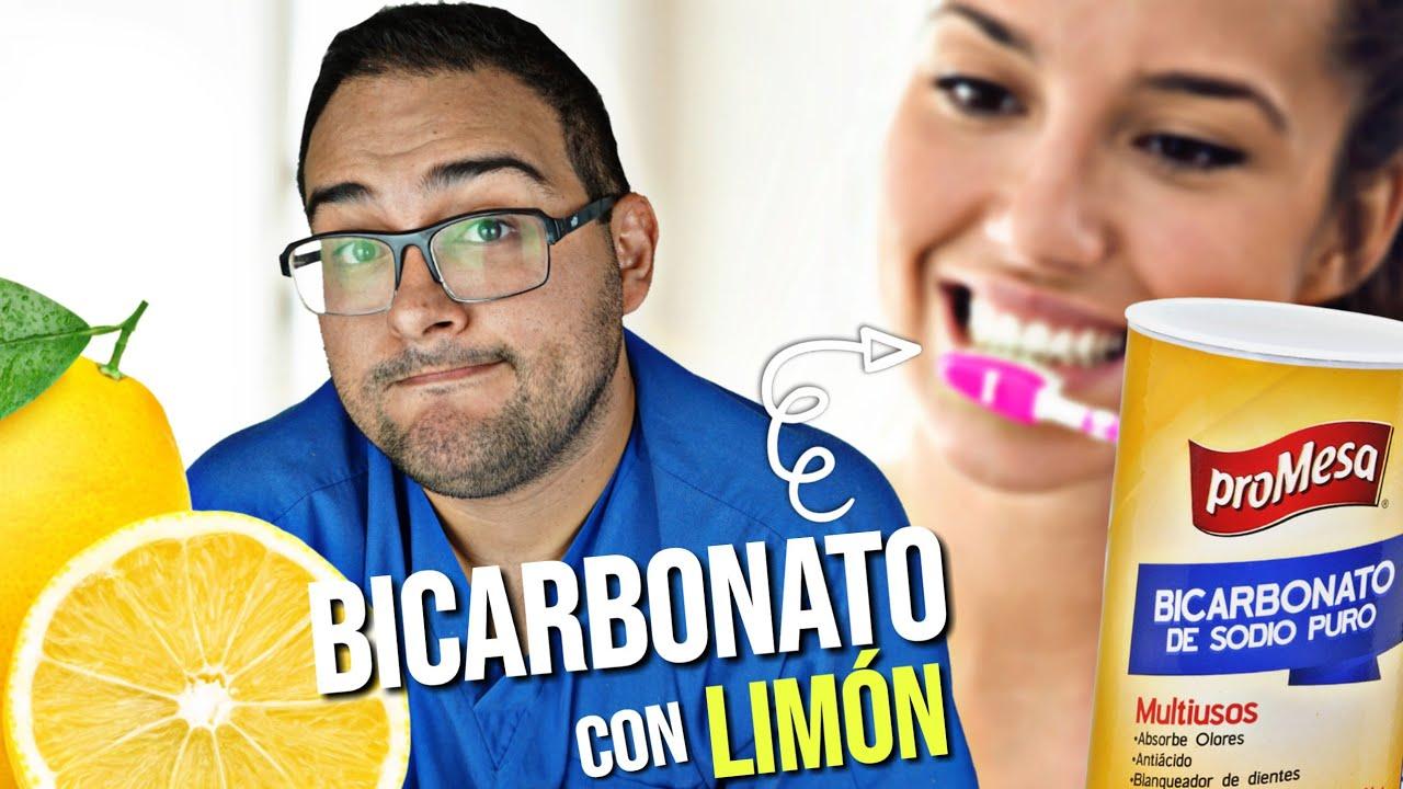 limpieza de dientes con bicarbonato y limon