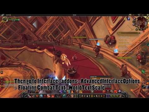 Change default Floating combat text font size (easy) LEGION!!