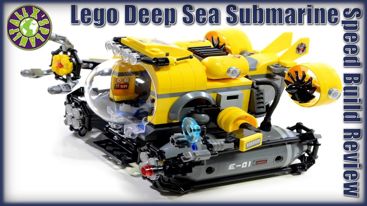 Lego City Deep Sea Submarine 60092 Stop Motion Review ...