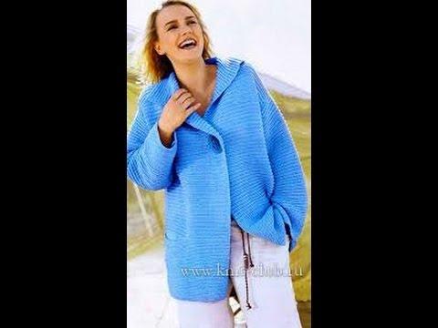 Вязание крючком и Вязать свитер женский спицами с косами схема