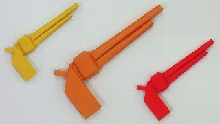Paper Gun Make Very Easy For Kids | Pistol Making Tutorial | Gun By Origami Art & Crafts