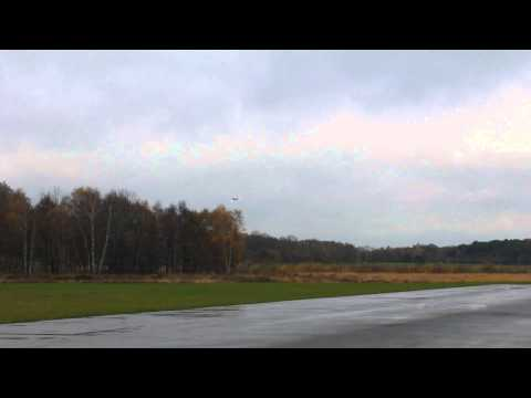 BD-5 jet (Black Horse) model aircraft maiden fleight at LVM airport Genk-Zwartberg.