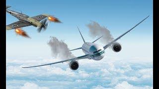 На самолете попадает в прошлое