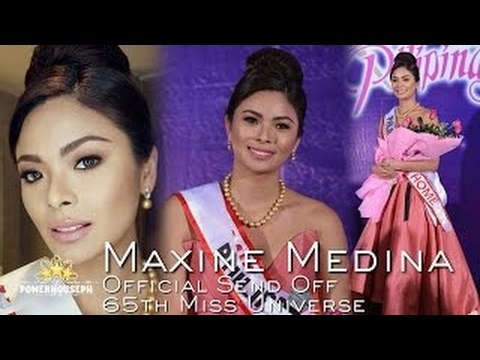 MAXINE MEDINA    Official Send Off 65th Miss Universe    Road To Miss Universe 2016