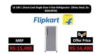 LG 190 L Direct Cool Single Door 4 Star Refrigerator (Shiny Steel, GL-B201APZX)