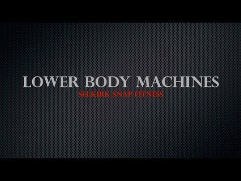 Snap Fitness Lower Body Machines