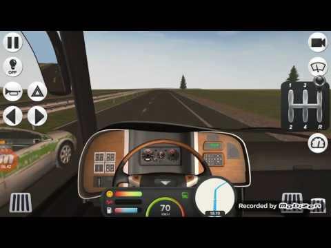 Coach Bus Simulator. From Amsterdam→Frankfurt(real mode)
