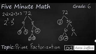 6th Grade Math Prime Factorization