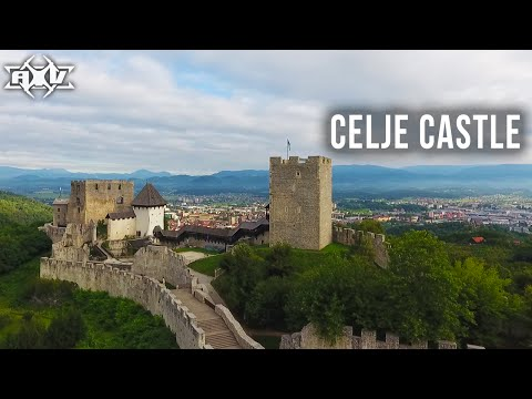 Celje Old Castle - Celjski Grad - Drone Video