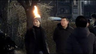 불타는 머리 몰래카메라 ㅋㅋㅋㅋ