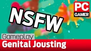 nsfw genital jousting gameplay a surprisingly fun phallic party game