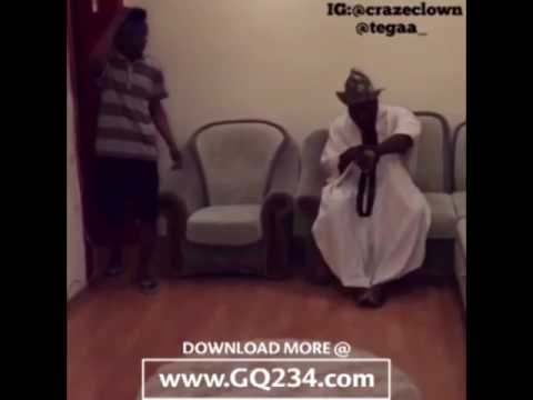 comedy video CrazeClown ft  Tegaa Ade The Boxer www GQ234 com