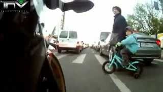 Close call for two bikers