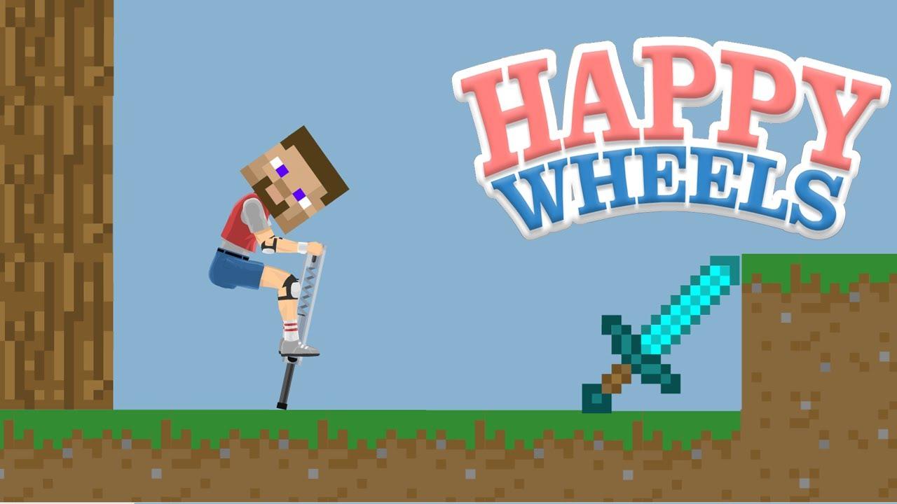 Happy Wheels Minecraft Demo And Minecraft Quiz Youtube