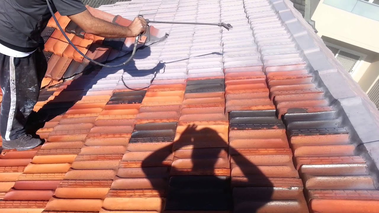Painting Terracotta Roof Tiles Step 3 Applying Special Sealer Able