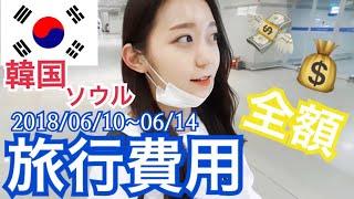 【韓国旅行】6月の韓国での旅行費用!飛行機代(航空券)、食費、宿泊費、買い物など!費用の予算立てにどうぞ!【お金】