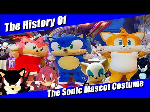 The History Of The Sonic The Hedgehog Mascot Costumes