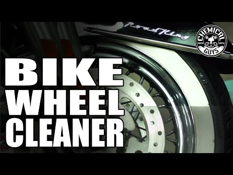 Cleaning Chrome Motorcycle Wheels And Tires - Chemical Guys Apex Wheel Cleaner