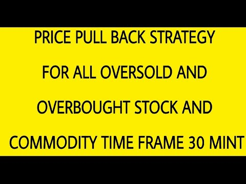 PRICE PULL BACK STRATEGY FOR ALL OVERSOLD AND OVERBOUGHT STOCK AND COMMODITY TIME FRAME 30 MINT