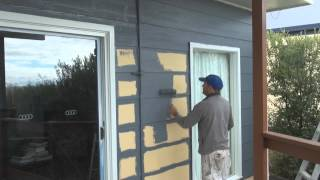 Painting Hardiplank (Hardie Plank)-  Painting exterior wall boards or siding.