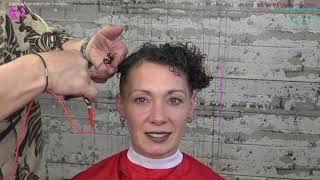 Just love Ultra-Short hair and surprise me with the color Maida tutorial model T.K.S