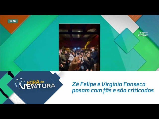 Zé Felipe e Virginia Fonseca posam com fãs e são criticados por aglomeração