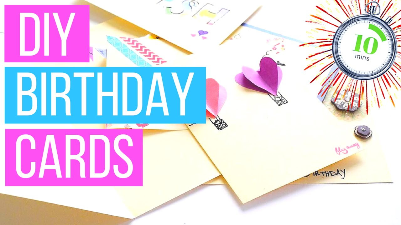DIY Birthday Cards You Can Make In Less Than 10 Minutes GIVEAWAY NEWS