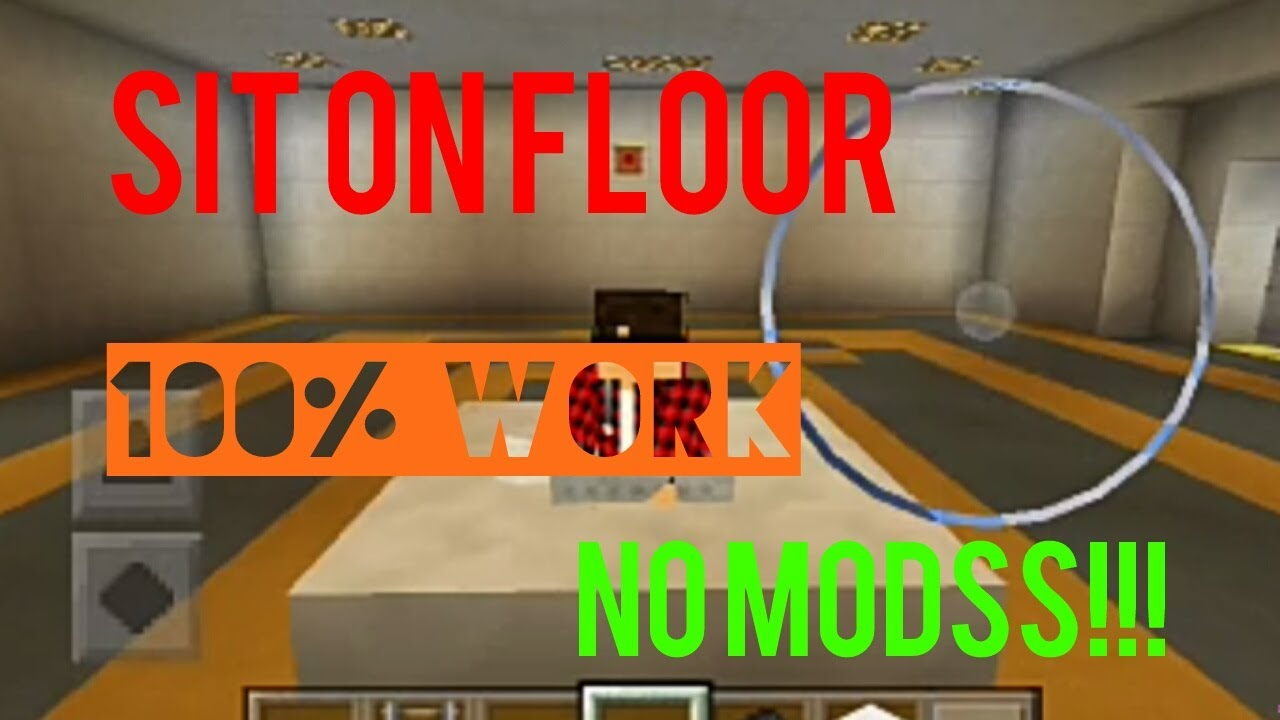 HOW TO SIT ON THE FLOOR ON MCPE NO MODS!! WORKING 100%