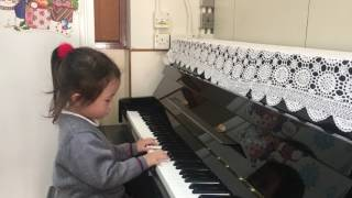 3 years old Piano performance in Kentville Kinderg