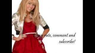 "Hannah Montana Forever - ""Que Sera"" With Lyrics on Screen"