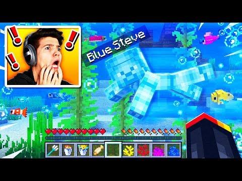 I Found Blue Steve Underwater in Minecraft! (MCPE)