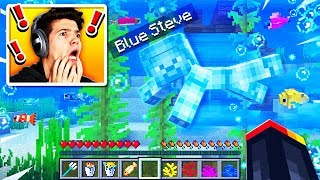 I Found Blue Steve Underwater in Minecraft! (MCPE)