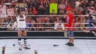 WWE Raw 8/1/11 - John Cena & CM Punk Funny Moments *HD*