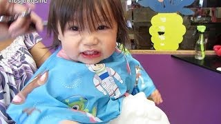 baby s first haircut april 11 2014 itsjudyslife daily vlog