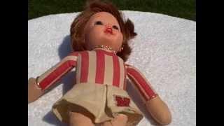 Vintage 1970 Mattel Talking Nebraska Husker Cheerleader Doll Original and Works