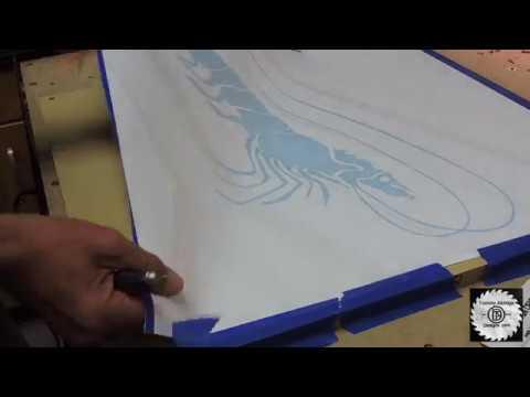 Cutting Vinyl letters on a CNC Machine