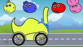 Street Vehicles Colors Learning | Dinosaurs Trucks, Excavator, Red Trucks | Video For Kids