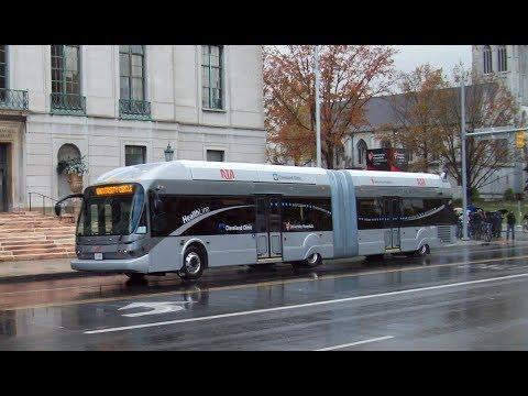 BRT - Bus Rapid Transit (HealthLine) in Cleveland, Ohio 2019