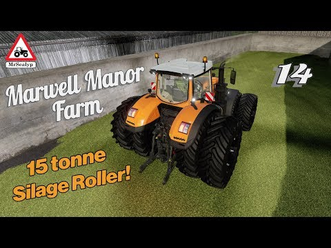 Marwell Manor Farm, #14, PS4, Farming Simulator 19, 15 Tonne Silage Roller! Let's Play/Role Play.