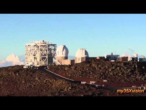 Haleakala Observatories and Spectacular Views from the top of  Volcano ~ Maui Hawaii