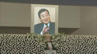 加藤氏死去「本当に残念」 合同葬で安倍首相